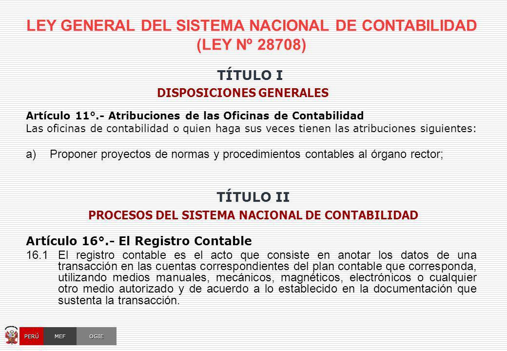 CUENTA GENERAL DE LA REPÚBLICA [ Normatividad – Resumen Comparativo ]